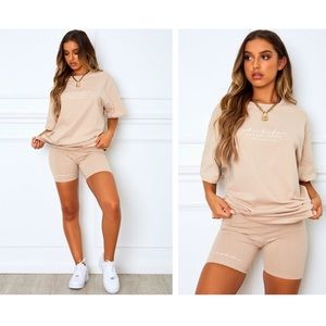 Oversized tee and biker shorts set